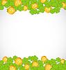 Gruß Hintergrund mit Kleeblätter und golden