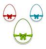 Ostern Eier Set Wickeln bunten Bögen