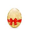 Ostern österlichen Glanz Ei mit roter Schleife
