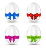 Ostern eingestellt Feier Eier mit bunten Bögen
