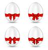 Ostern eingestellt Feier Ei Verpackung rote Schleife für Sie