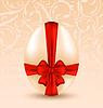 Osterfest mit traditionellen Hintergrund Ei