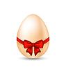 Ostern Oster Ei mit roter Schleife
