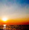Abstrakt natürlichen Hintergrund, Himmel und Meer während