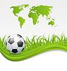 Fußball-Karte mit Ball für Brasilien 2014