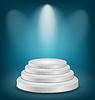 Leere weiße Podium mit Licht