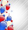 Amerikanischen Hintergrund mit bunten Luftballons für 4.