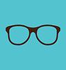Weinlese-Gläser auf blauem Hintergrund icon