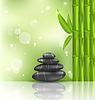 Meditative orientalischen Hintergrund mit Bambus und