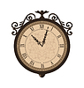 Schmieden Retro-Uhr mit Vignette Pfeile, Rücken