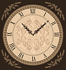 Vintage Uhr mit Vignette Pfeile