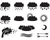ID 4094680 | Weather symbols | Klipart wektorowy | KLIPARTO