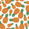 Ananas Fruchtmuster nahtlos