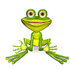 Green frog | Stock Illustration