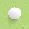 Modern estilizada manzana 3d, | Ilustración vectorial