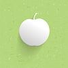 Modern estilizada manzana 3d, | Ilustración