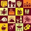 Essen Hintergrund Symbole