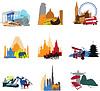 Miniaturen verschiedenen Ländern