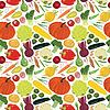 nahtloser Hintergrund mit einer Vielzahl von Gemüse