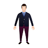 Vector clipart: man in navy blazer and burgundy pants