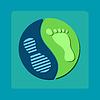 modernes Symbol des Yin-Yang-Fußabdrücke