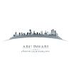 Abu Dhabi UAE Skyline Silhouette weiß