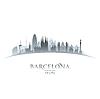 Barcelona Spanien Skyline Silhouette weiß