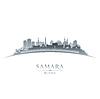 Samara Russland Skyline Silhouette weiß