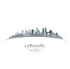 London England Skyline Silhouette weiß