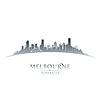 Melbourne, Australien Skyline Silhouette weiß
