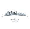 Sydney Australien Skyline Silhouette weiß
