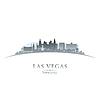 Las Vegas Nevada Skyline Silhouette weiß