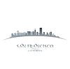 San Francisco Kalifornien Skyline Silhouette