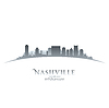 Nashville Tennessee Skyline Silhouette weiß