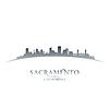 Sacramento California Skyline Silhouette