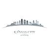 Kansas City Missouri Skyline Silhouette weiß