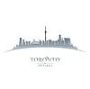 Toronto Ontario Kanada Skyline Silhouette Whit