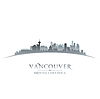 Vancouver British Columbia Stadt Skyline Silhouette