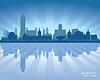 Albany New York Skyline der Stadt-Silhouette