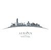 Albany New York Stadt-Silhouette weißen Hintergrund