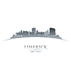 Limerick Irland Skyline Silhouette weiß