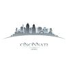 ID 4132190 | Cincinnati Ohio Stadt Silhouette weißen Hintergrund | Stock Vektorgrafik | CLIPARTO