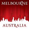 Melbourne, Australien Skyline der Stadt-Silhouette rot