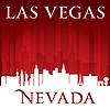 Las Vegas Nevada Stadt-Skyline-Silhouette rot