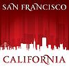 San Francisco Kalifornien Stadt-Skyline-Silhouette Wieder