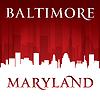 ID 4338171 | Baltimore Maryland-Stadt-Skyline-Silhouette rot | Stock Vektorgrafik | CLIPARTO