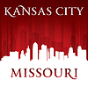 Kansas City Missouri Skyline-Silhouette rot