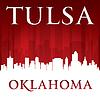 Tulsa Oklahoma City Skyline-Silhouette rot