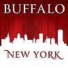 ID 4343961 | Buffalo New York Skyline der Stadt-Silhouette rot | Stock Vektorgrafik | CLIPARTO