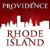 Providence Rhode Island Stadt-Silhouette rot